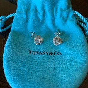 Tiffany&Co. 925 Sterling Silver Knot Earrings